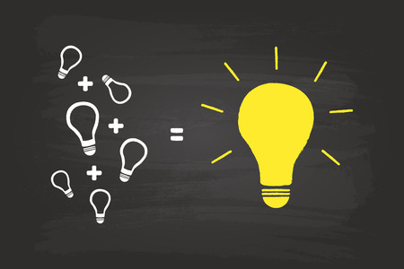 From Small Ideas To Big Success Idea Concept On Blackboard Vector