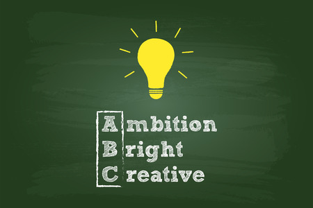 Idea Light Bulb On Green Chalkboard Vector