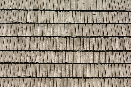 Old Roof Texture With Wood Tiles photo