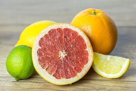 Citrus Summer Fruits Close Up photo