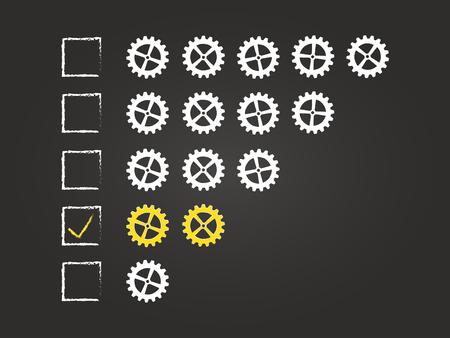 Two Cogs Quality Feedback Form On Blackboard Vector