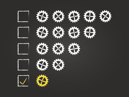 One Cog Quality Feedback Form On Blackboard Vector