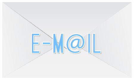 email contact: Contact Us By E-Mail Envelope Vector Isolated Illustration