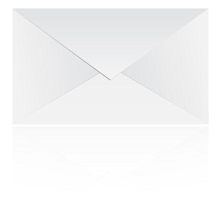 Mail Envelope With Reflection On White Vector