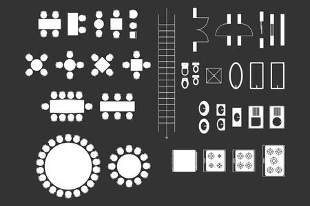 Architecture icônes pour Plan de conception Sur Blackboard