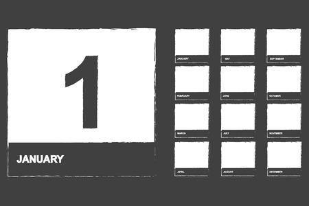 Calendar Icons Set On Blackboard Vector