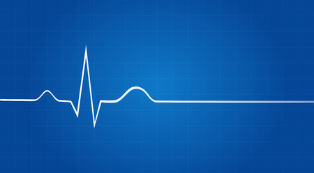 heartbeat monitor: Blueprint Of Electrocardiogram Last Life Sign