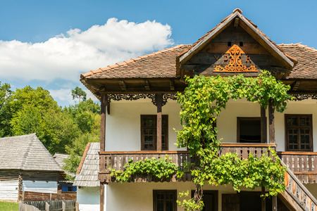 ethnology: SIBIU, ROMANIA - AUGUST 19, 2014: Astra National Museum Complex is a museum complex which gathers four ethnology and civilisation museums in the city and laboratories for conservation and research.