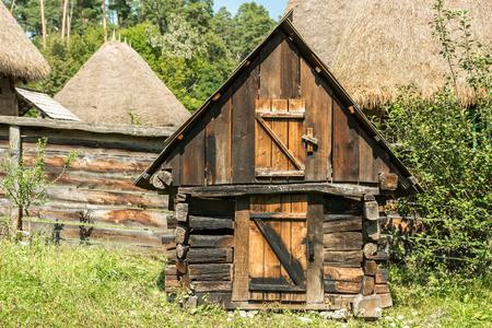 coop: Old Chicken Coop In Romanian Village