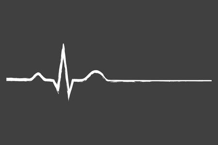 electrocardiograma: Electrocardiograma sesión Última Vida En La Pizarra Vectores