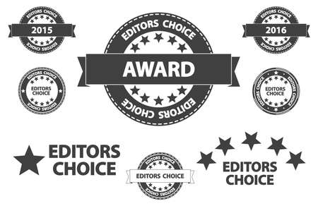 editors: Editors Choice Quality Product Award Retro Icons Illustration