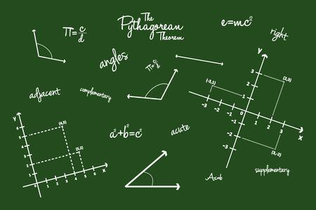 Mathematical Geometry Signs On Blackboard