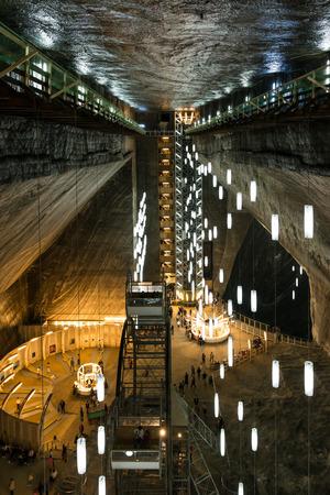 turda: TURDA, ROMANIA - AUGUST 21, 2014: Opened In 1992 Salina Turda is a salt mine located in Durgau-Valea Sarata area of Turda,   second largest city in Cluj County, Romania.