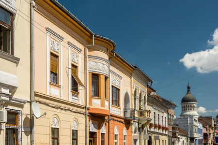 cluj: Old Apartment Buildings In Cluj Napoca City Of Romania