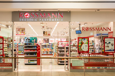 DEBRECEN, HUNGARY - AUGUST 23, 2014: Founded in 1972 Dirk Rossmann GmbH commonly known as Rossmann Drogeria Parfumeria is the second largest drugstore chain based in Germany. Editorial