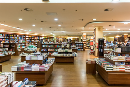 store shelf: DEBRECEN, HUNGARY - AUGUST 23, 2014: Famous International Books For Sale In Libri Book Store, one of the largest retail bookseller in Hungary.