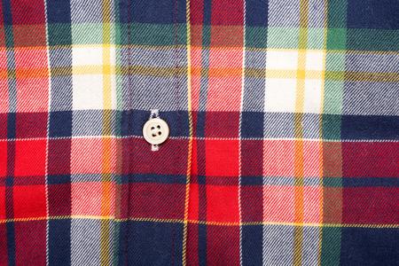 Retro Casual Man Shirt Closeup photo