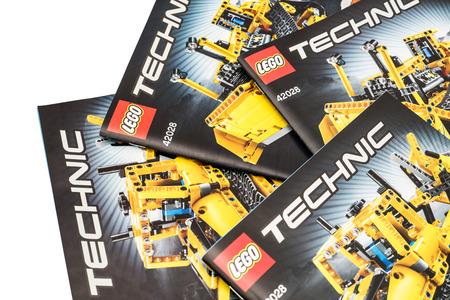 Bucharest Romania December 09 2014 Lego Technic Instruction