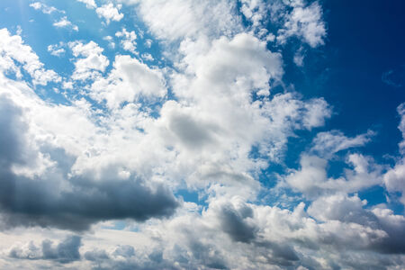 Blue Summer Sky With Clouds photo