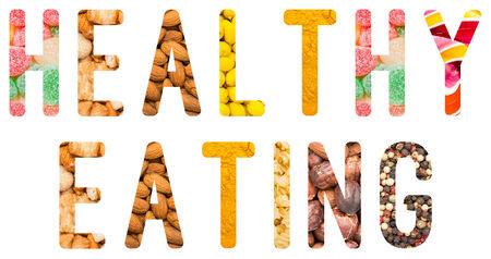 Healthy Eating Concept Isolated Made From Food Ingredients photo