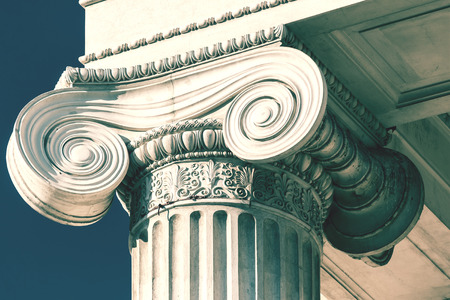 columns: Vintage Old Courthouse Column