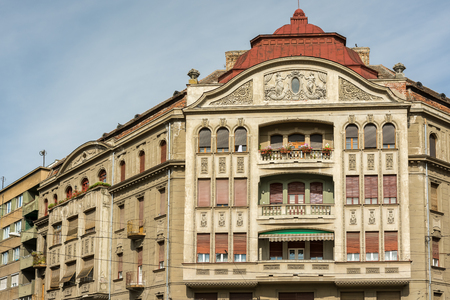 apartment       buildings: TIMISOARA, ROMANIA - AUGUST 25, 2014: Old Apartment Buildings In The Historical Center Of Timisoara City. Editorial