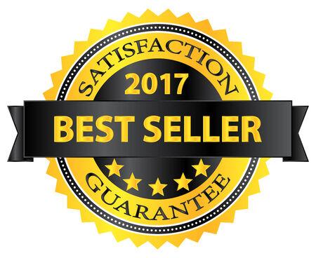 Best Seller 2017 Award Badge On White Vector