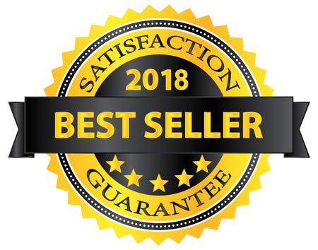 award badge: Best Seller 2018 Award Badge On White