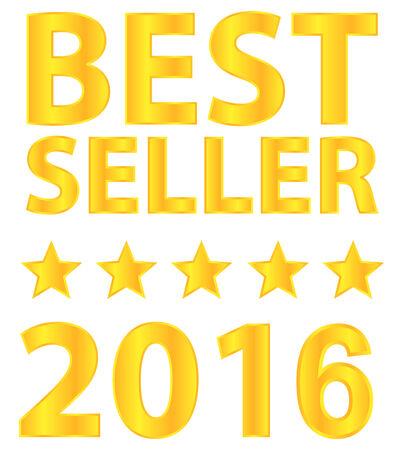Best Seller Five Star Award 2016 Vector