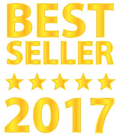 Best Seller Five Star Award 2017 Vector