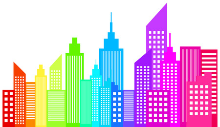 city: Modern City Skyline Skyscrapers Illustration