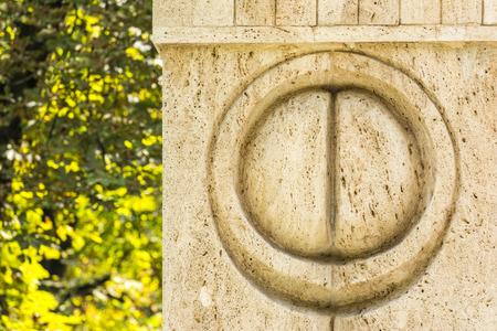 constantin: Detail Of The Gate of the Kiss Stone Sculpture Made By Constantin Brancusi in 1938 In Targu Jiu, Romania. Editorial