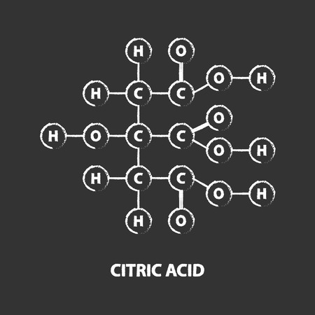 citric: Chemical Formula Of Citric Acid On Blackboard