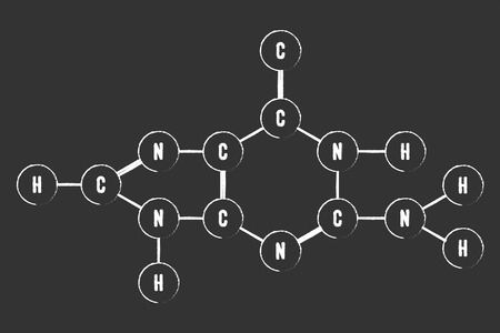guanine: Chemical Formula Of DNA Component Guanine