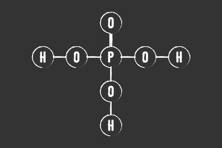 �cido: F�rmula qu�mica de �cido fosf�rico
