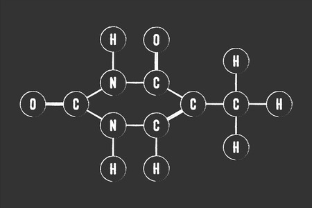 thymine: Chemical Formula Of DNA Component Thymine Illustration