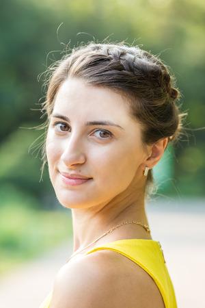 Happy Young Bridesmaid Girl Portrait photo