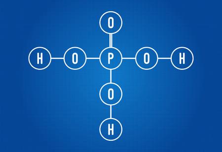 Chemical Formula Of Phosphoric Acid Royalty Free Cliparts Vectors