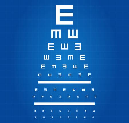 Eye Sight Grafiek van de Test Blauwdruk Stock Illustratie