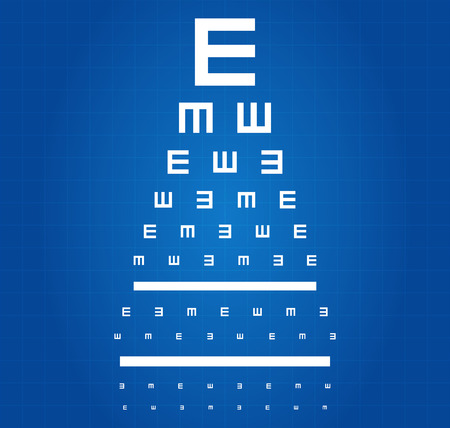 Eye Sight Test Chart Blueprint Vector