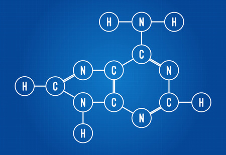 chemical formula: Chemical Formula Of DNA Component Adenine Illustration