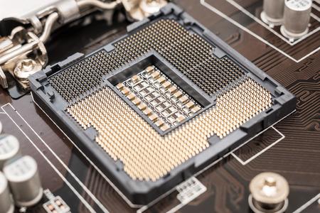 motherboard: Empty CPU Socket On Computer Motherboard