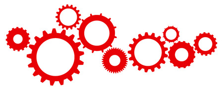 clock gears: Cogs And Gears Mechanism Icon Vector Illustration