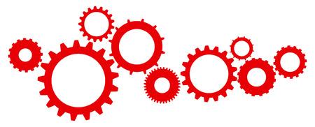 engranes: Icono de dientes y engranajes Mecanismo Ilustraci�n Vector