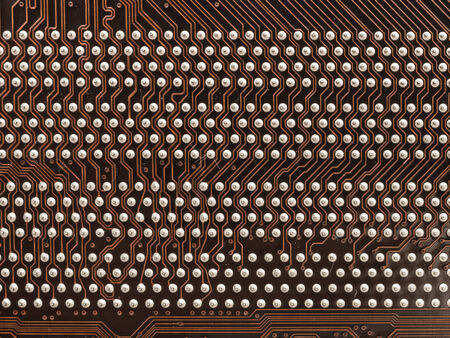 motherboard: Circuit Board Texture And Pins On Computer Motherboard Stock Photo