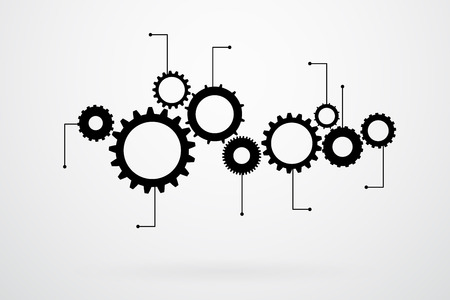 cogs: Cogs And Gears Icon Vector Illustration