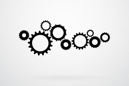 cogs: Ingranaggi e illustrazione vettoriale Gears Icon