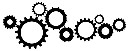 metal gears: Cogs And Gears Icon Vector Illustration