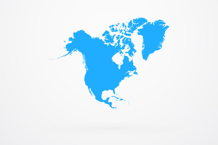 North America Continent Map Vector