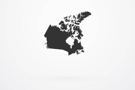 canada country: Canada Country Vector Map Illustration